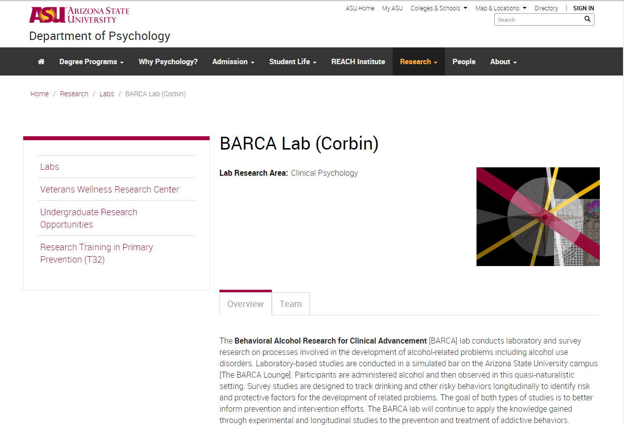 Arizona State University BARCA Lab