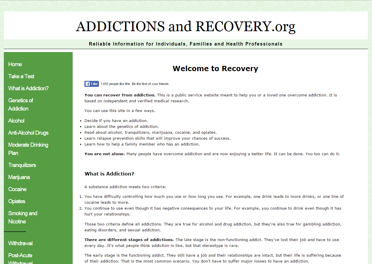 Addictions and Recovery