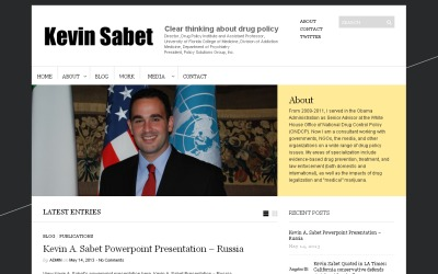 Kevin Sabet: Clear Thinking About Drug Policy