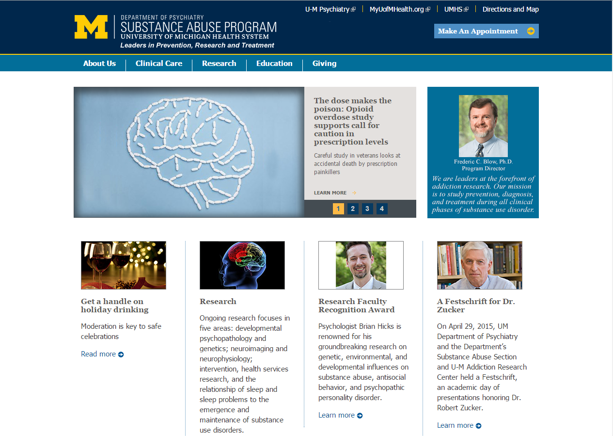 University of Michigan Department of Psychiatry Addiction Center