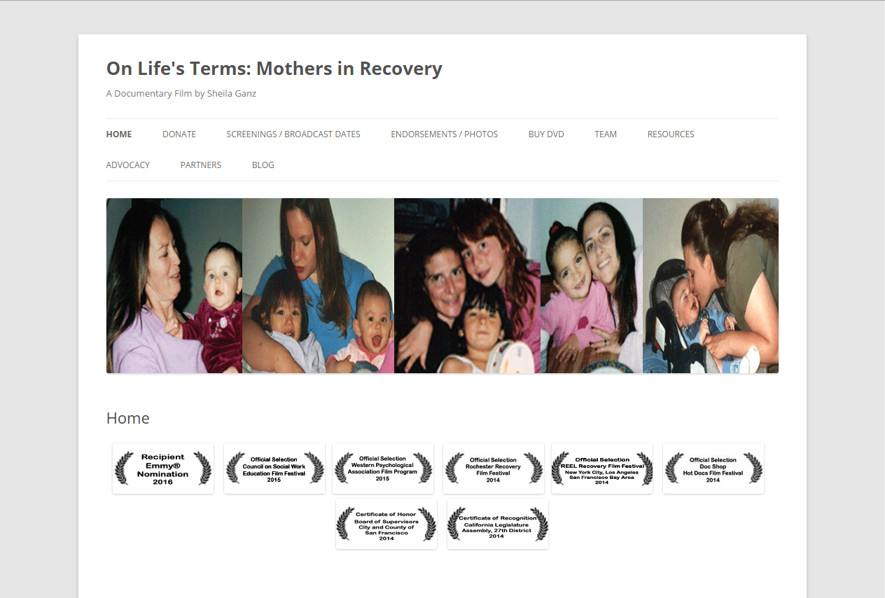 On Life's Terms: Mothers in Recovery