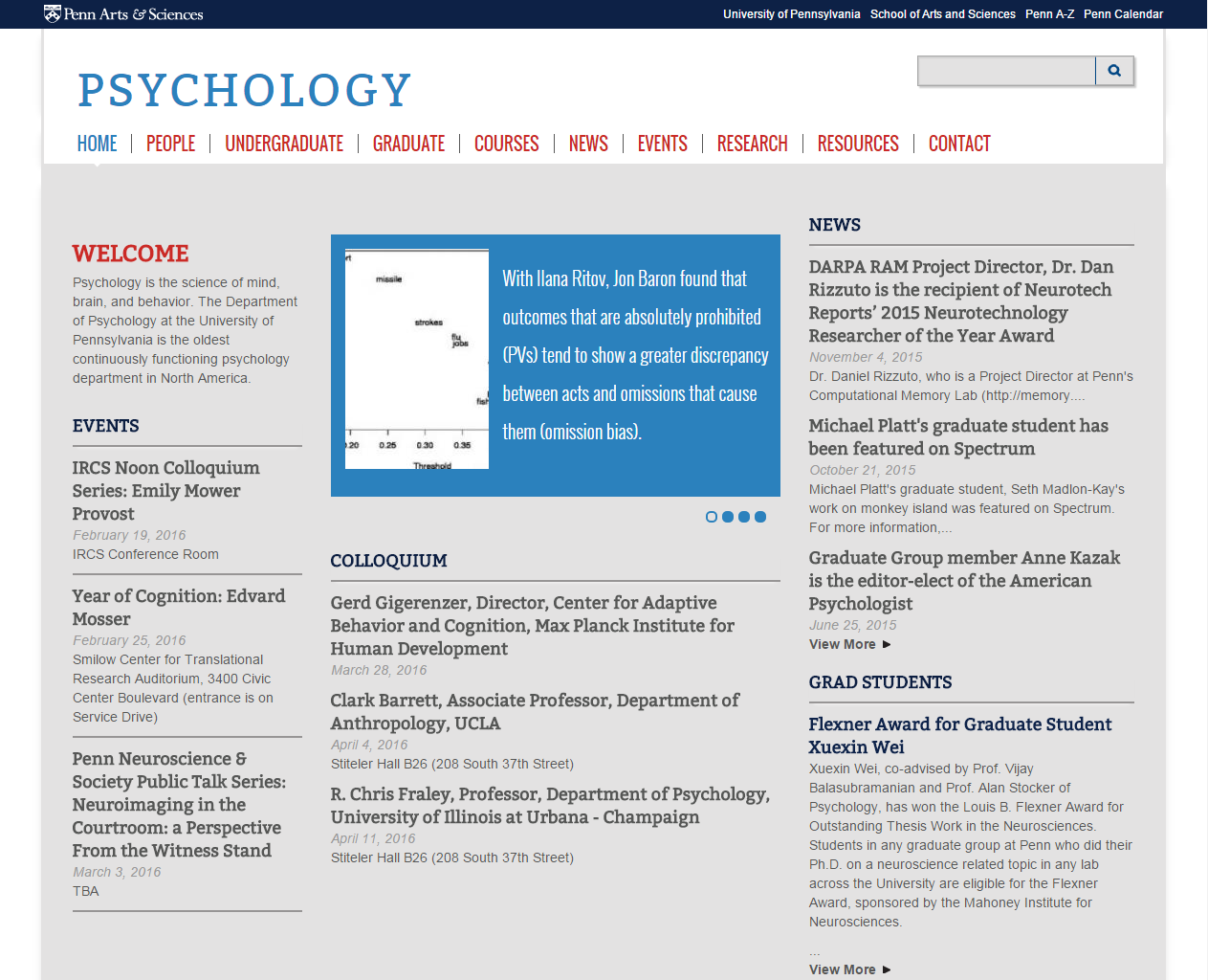 University of Pennsylvania Psychology Department