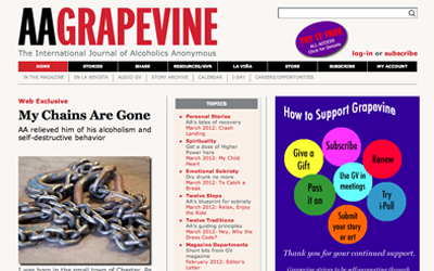 Alcoholics Anonymous Grapevine Magazine