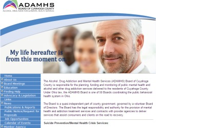 ADAMHS Board of Cuyahoga County: Alcohol, Drug Addiction & Mental Health Services