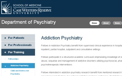 CWRU Addiction Psychiatry Fellowship Program