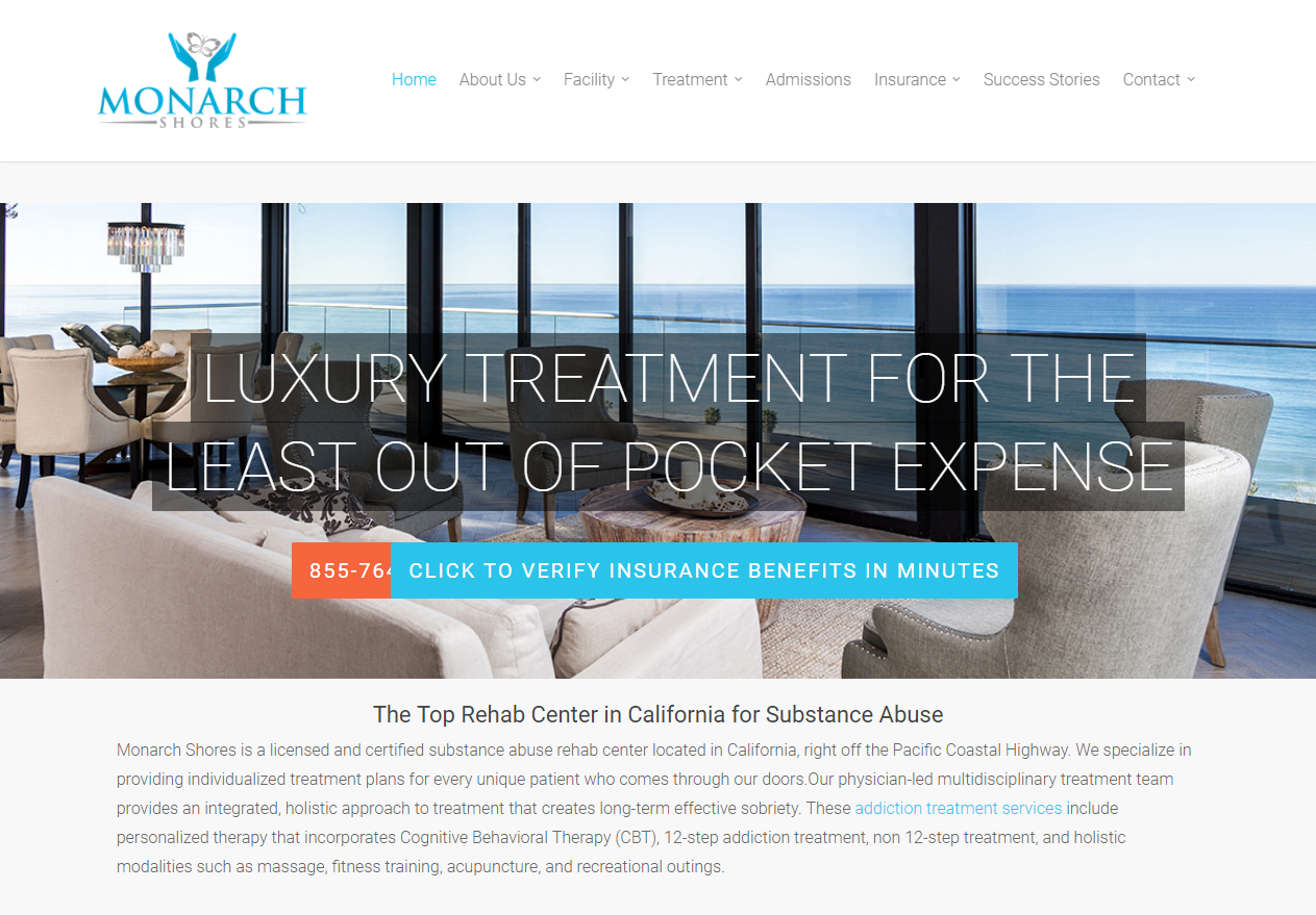Monarch Shores Luxury Addiction Treatment in California