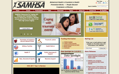 Substance Abuse and Mental Health Service Administration (SAMHSA)